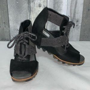 Sorel Women's Joanie Lace Wedge Sandals Sz 7